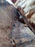Rock Climbing Photo: The Calvanator on Tricks of the Trade.