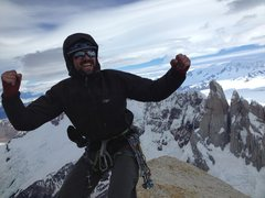 Rock Climbing Photo: Summit of Cerro Fitz Roy, after climbing the Afana...