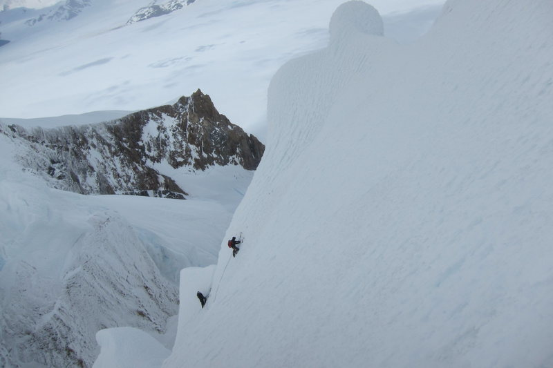 Rock Climbing Photo: Peter Pribik and I climbing high on the west face ...