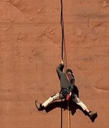 Rock Climbing Photo: Bear Grylls on a hard lead...eh...mock lead...