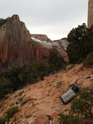 Rock Climbing Photo: Bivy at First Ledges on Tricks of the Trade.