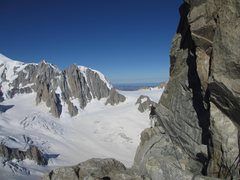 the beginning traverse on the SW/normal route of the Dent du Géant