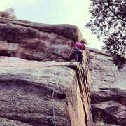 Rock Climbing Photo: Devil's head, sunrise slab.