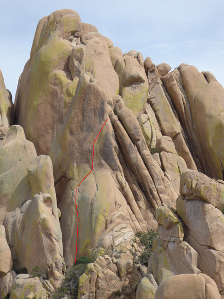 Rock Climbing Photo: pitches 1 and 2