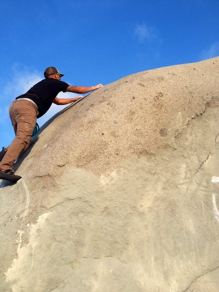 Rock Climbing Photo: Nearing the top of North West Slab.  OTD!