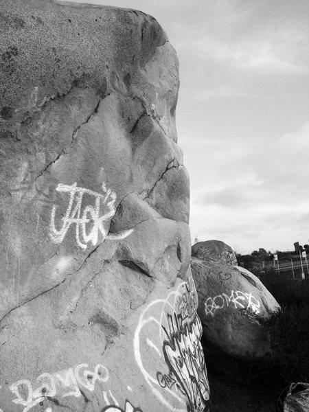 Rock Climbing Photo: Profile of Gang Land.