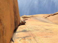 Rock Climbing Photo: Pitch 10 of Tricks of the Trade.