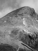 Rock Climbing Photo: Looking up the start of the rounded arête that is...