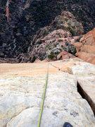 Rock Climbing Photo: Rapping the headwall.