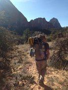 Rock Climbing Photo: Hiking out.