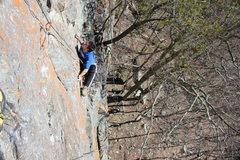 Rock Climbing Photo: Daniel on Holy War