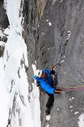 Rock Climbing Photo: Making the delicate traverse to belay anchors on t...
