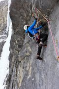 Rock Climbing Photo: Dave Rone at the start to the crux 3rd pitch. Feb ...