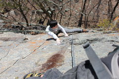 Rock Climbing Photo: Slab part on top of HW