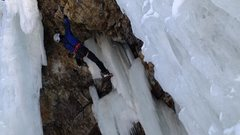 Rock Climbing Photo: Sunny side of ice park