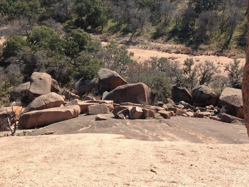 The Boundary Boulders as viewed from the Redtail Rocks.