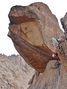 Rock Climbing Photo: last pitch: The summit is a detached huge boulder!...