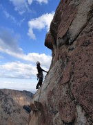 Rock Climbing Photo: second to last pitch. Suppose to be the crux, but ...