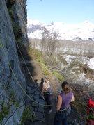 Rock Climbing Photo: A belay area at Valdez Glacier Campground.  Vegeta...