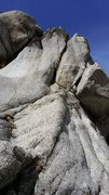 Rock Climbing Photo: Wing Nut is the crack in the middle, Strewn Master...