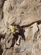 Rock Climbing Photo: 1st crux at low roof.