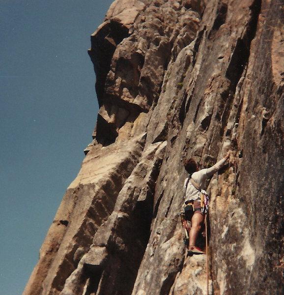 Scott Senjo scoping the route