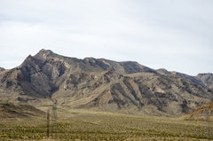 Rock Climbing Photo: Mormon Mountains as seen from the dirt road on the...
