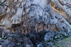 Rock Climbing Photo: Beautiful slightly overhung streaked wall with hal...