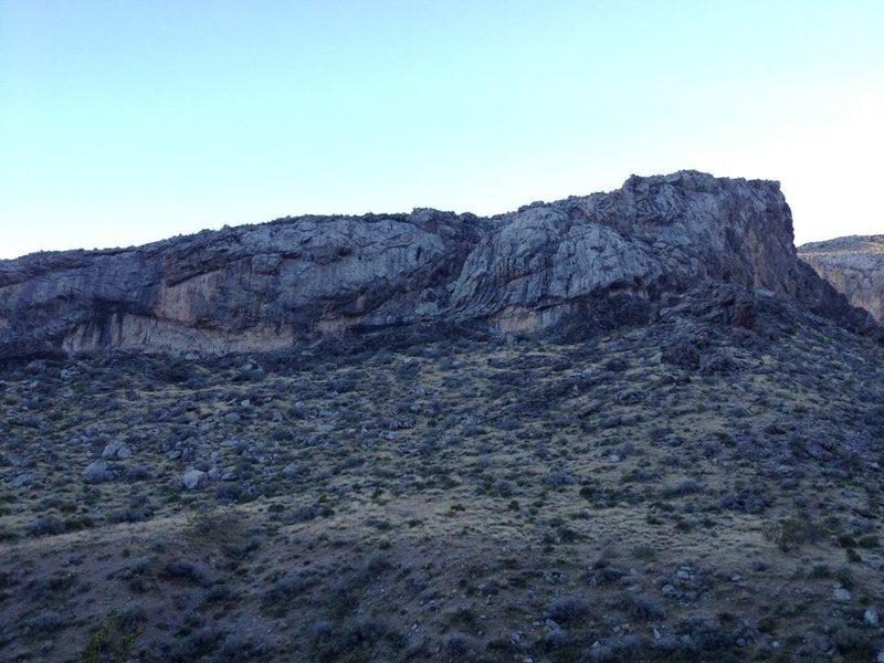 Short lower wall in Davidson Canyon