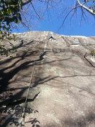 Rock Climbing Photo: Daryl approaching the crux.