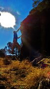 Rock Climbing Photo: A sunny day send of Comeback Haunting. Hold the ba...