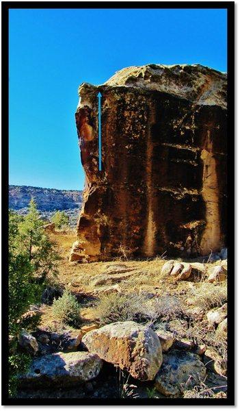 Rock Climbing Photo: Comeback Haunting problem beta.