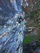 Rock Climbing Photo: Bill Price on Remember 9.11 (.10d). Twin Towers (r...