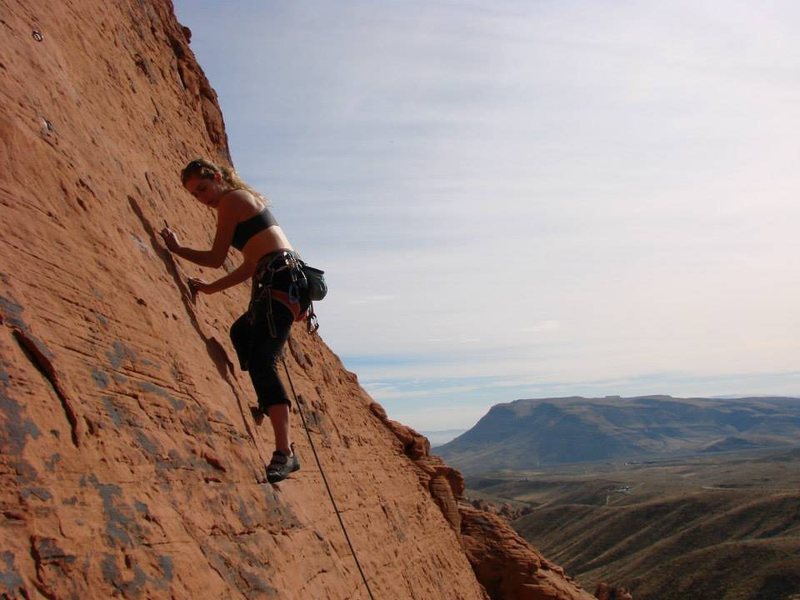 Rock Climbing Photo: Leading Frictiony Face Panty Waist at Red Rocks