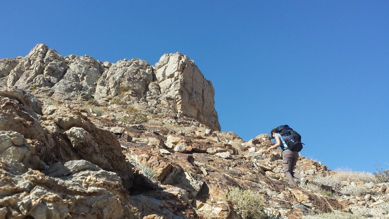 Rock Climbing Photo: Moderate crag is the shaded face directly ahead.