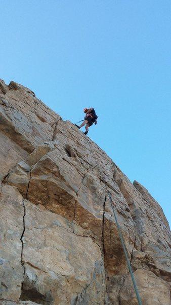 Rock Climbing Photo: David atop the middle