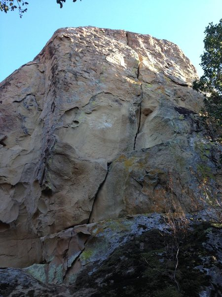 Rock Climbing Photo: Took a while wandering around to find this crack. ...