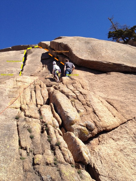 Rock Climbing Photo: Peter and I checking out The (Other) Dihedral befo...