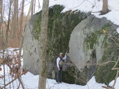 Rock Climbing Photo: Ben in Front of Large Boulder