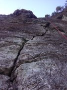 Rock Climbing Photo: The beginning of the crack on pitch two.