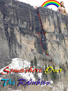 Rock Climbing Photo: Route overview with belay and descent anchors.
