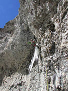 Rock Climbing Photo: Jason leading pitch 1.