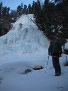 Rock Climbing Photo: At the base of the lower falls. It is much bigger ...