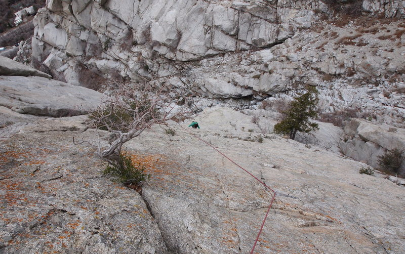 Rock Climbing Photo: The awesome 2nd pitch (best pitch on the route, im...