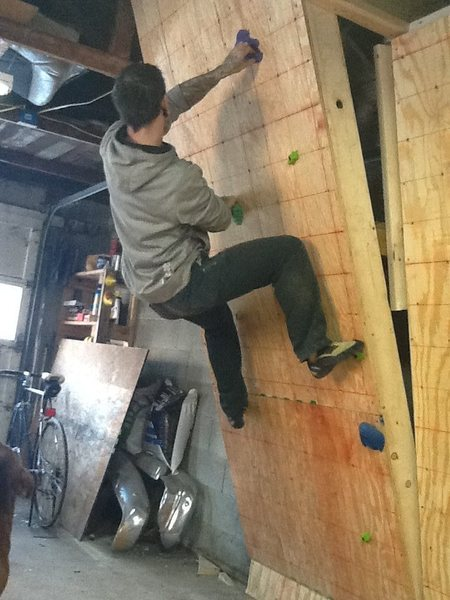 first crappy route ever on the wall