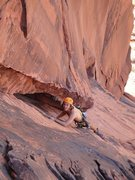 Rock Climbing Photo: Crack right before anchors! Mucho fun