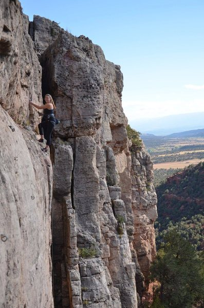 Rock Climbing Photo: Suzu atop Ludlow's Massacre.