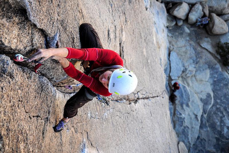 Climber - Paisley Close.<br> <br> Photo - Steve Cox