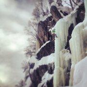 Rock Climbing Photo: Matthias Scherer leading Tipp during the 2014 Rjuk...