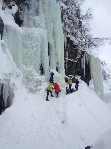 Girls Clinic during the 2014 Rjukan Ice Festival